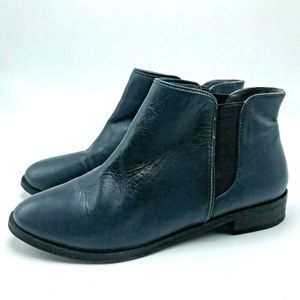 Kooba Margaret Boots 6 Womens Blue Leather Ankle B